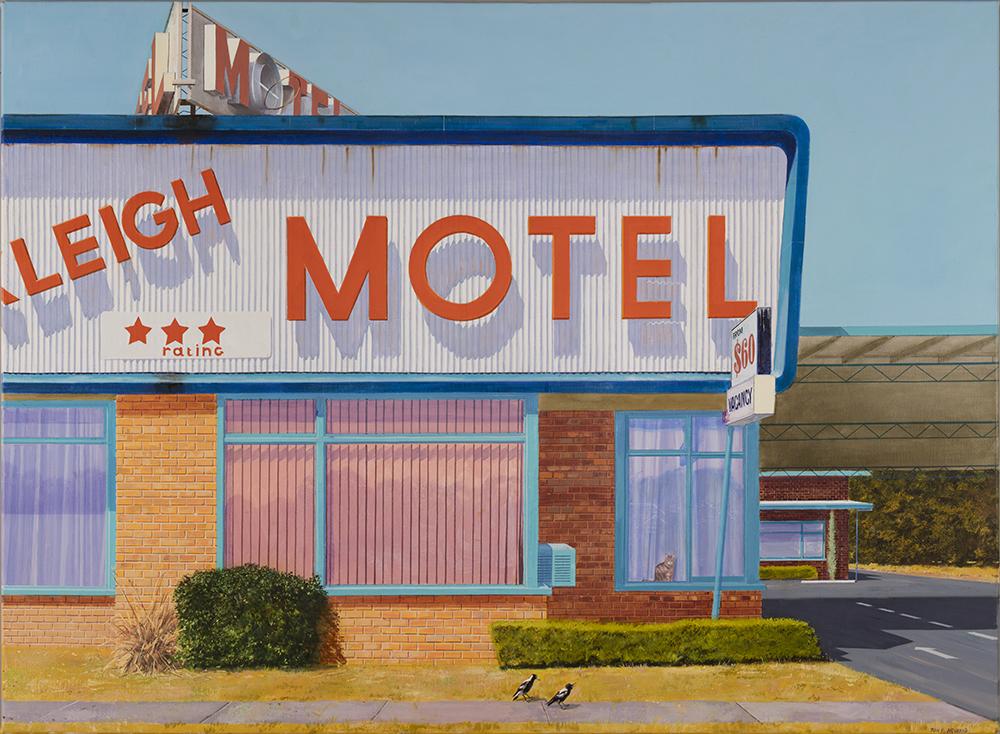 Tony Irving, oil on canvas Motel 2018
