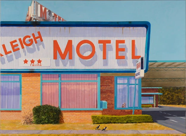 Tony Irving, oil on canvas Motel 2018